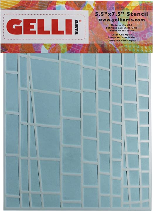 Designed to Print with 5x7 Printing Plate 5.5 x 7.5 Gelli Arts Ladder Stencil