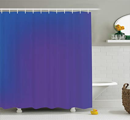 Ambesonne Indigo Shower Curtain Ombre Vivid Colored Image With Purple Pink Seem Shadow Detail Art