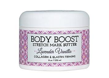 Body Boost Lavender Vanilla Stretch Mark Butter 8 oz - Pregnancy and  Nursing Safe Skin Care