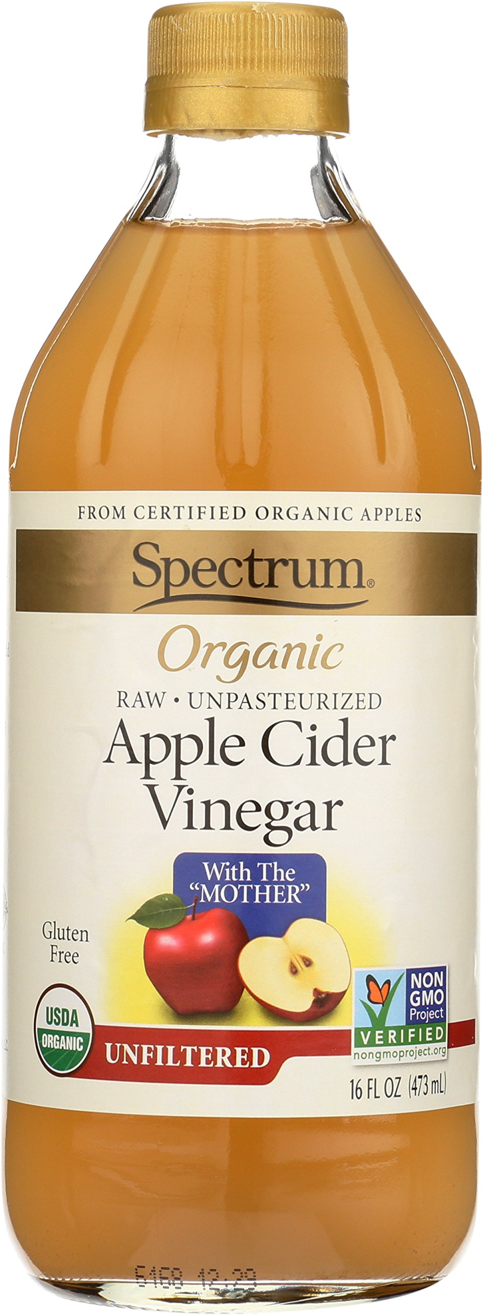 Spectrum, Apple Cider Vinegar, Organic, Unfiltered, 16 oz