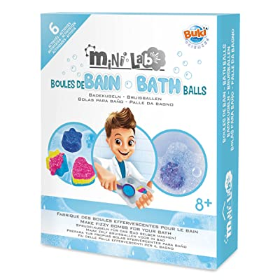 Buki Mini Lab DIY Bath Balls Fizzy Bomb Making Kit For Kids Age 8 and Up: Toys & Games