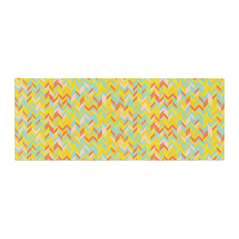 Kess InHouse Allison Soupcoff Chevron Pop Yellow Pattern Bed Runner