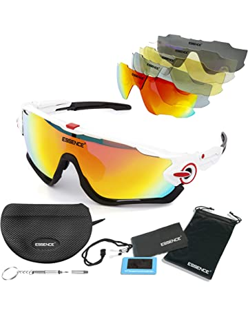 a0d0eb8992 essence  Polarised Sports Sunglasses - Mens   Womens Cycling Glasses +5  Interchangeable lenses with