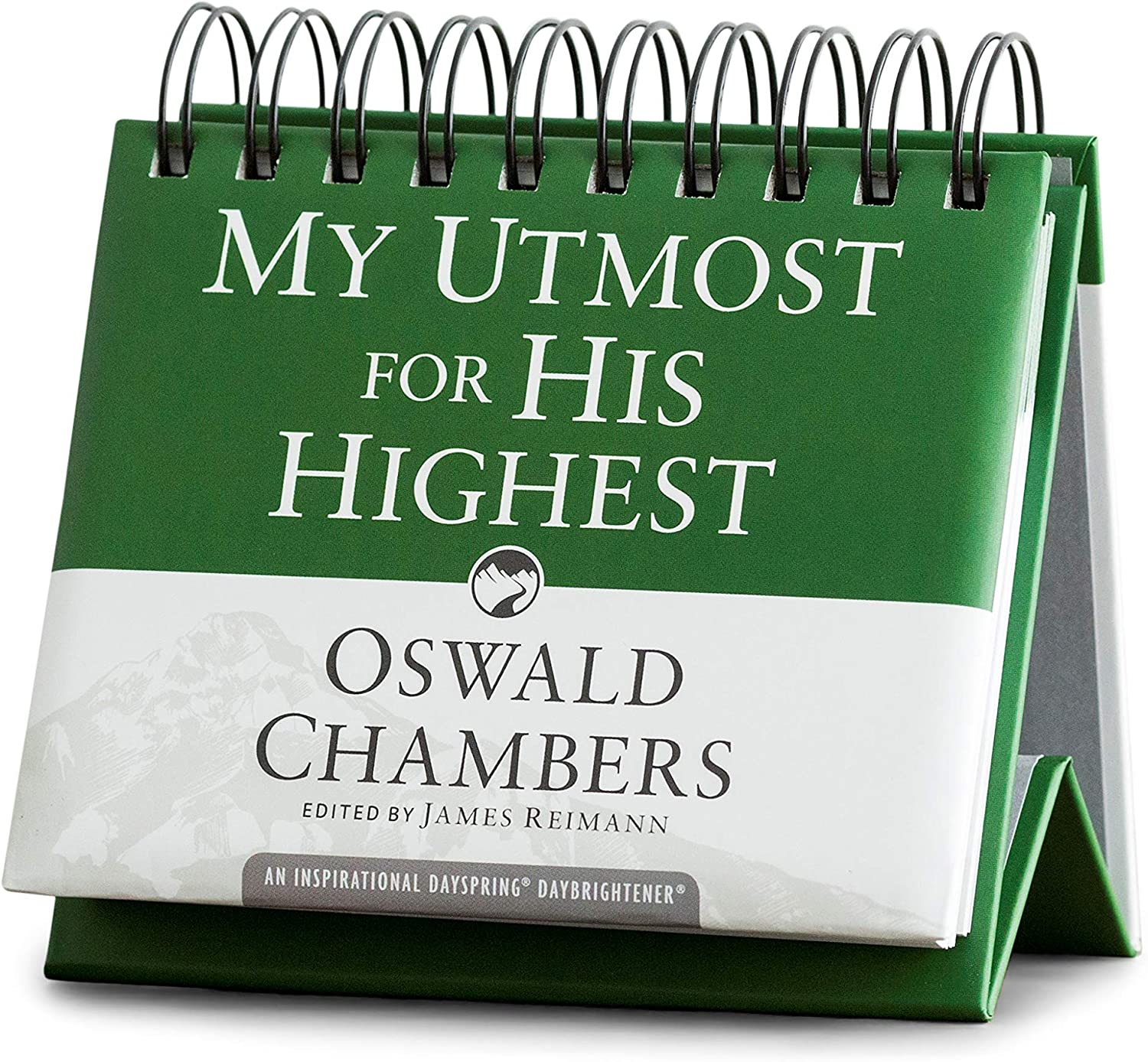 DaySpring - Oswald Chambers - My Utmost for His Highest - Perpetual Calendar (10179), Green