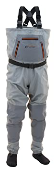 This fly fishing waders image shows the Frogg Toggs Hellbender fishing waders.