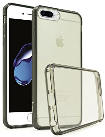 size 40 be52b be95f iPhone 7 Plus Case, Bastex Slim Fit Flexible Clear Transparent Rubber Back  Cover Fused Smoke Side Bumper Snap Case for Apple iPhone 7 Plus / 7 Pro