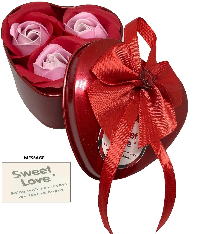 Sapone a forma di rosa, profumato, decorazione per matrimonio, sfumato, scatola in lega, per San Valentino, Festa della donna, Natale, regalo romantico, Red, 3 Roses Deals&bargain