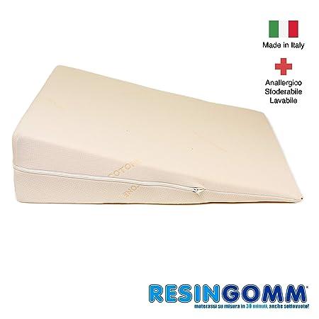 Cojín Anti Reflujo Gástrico Esofageo para adultos. Sfoderabile y Lavable, de alta calidad Resingomm. 100% Made in Italy, sin intermediarios. ...