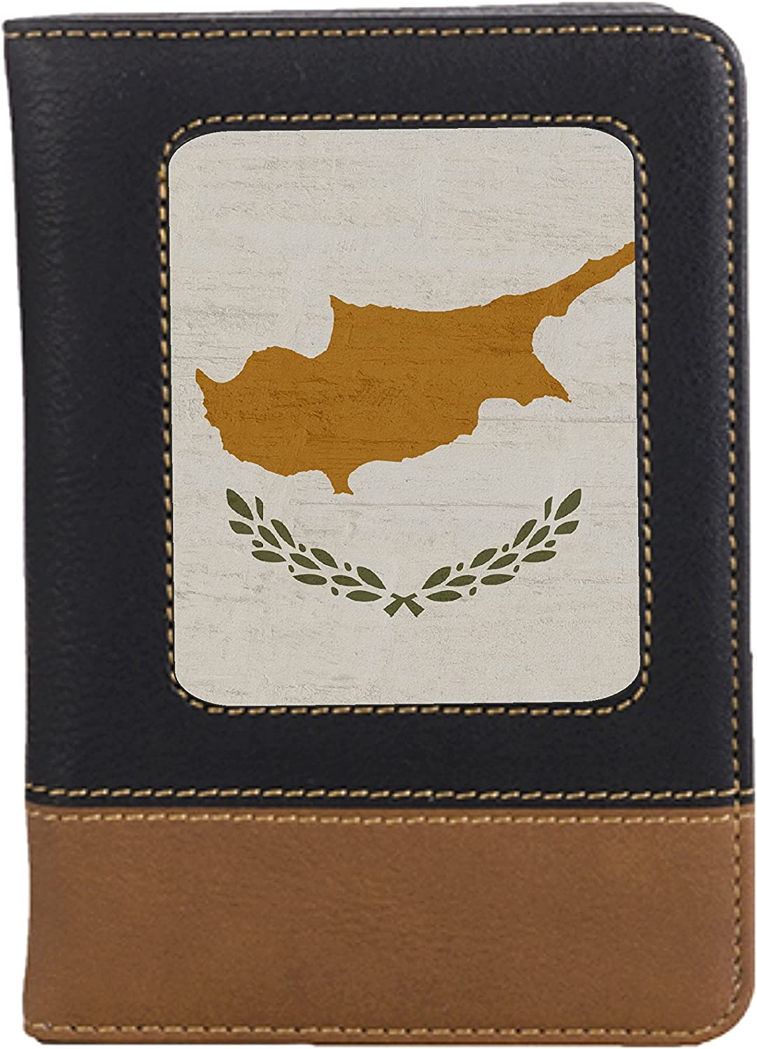 Cyprus Flag Leatherette Passport Wallet Style Case Cover For Travel