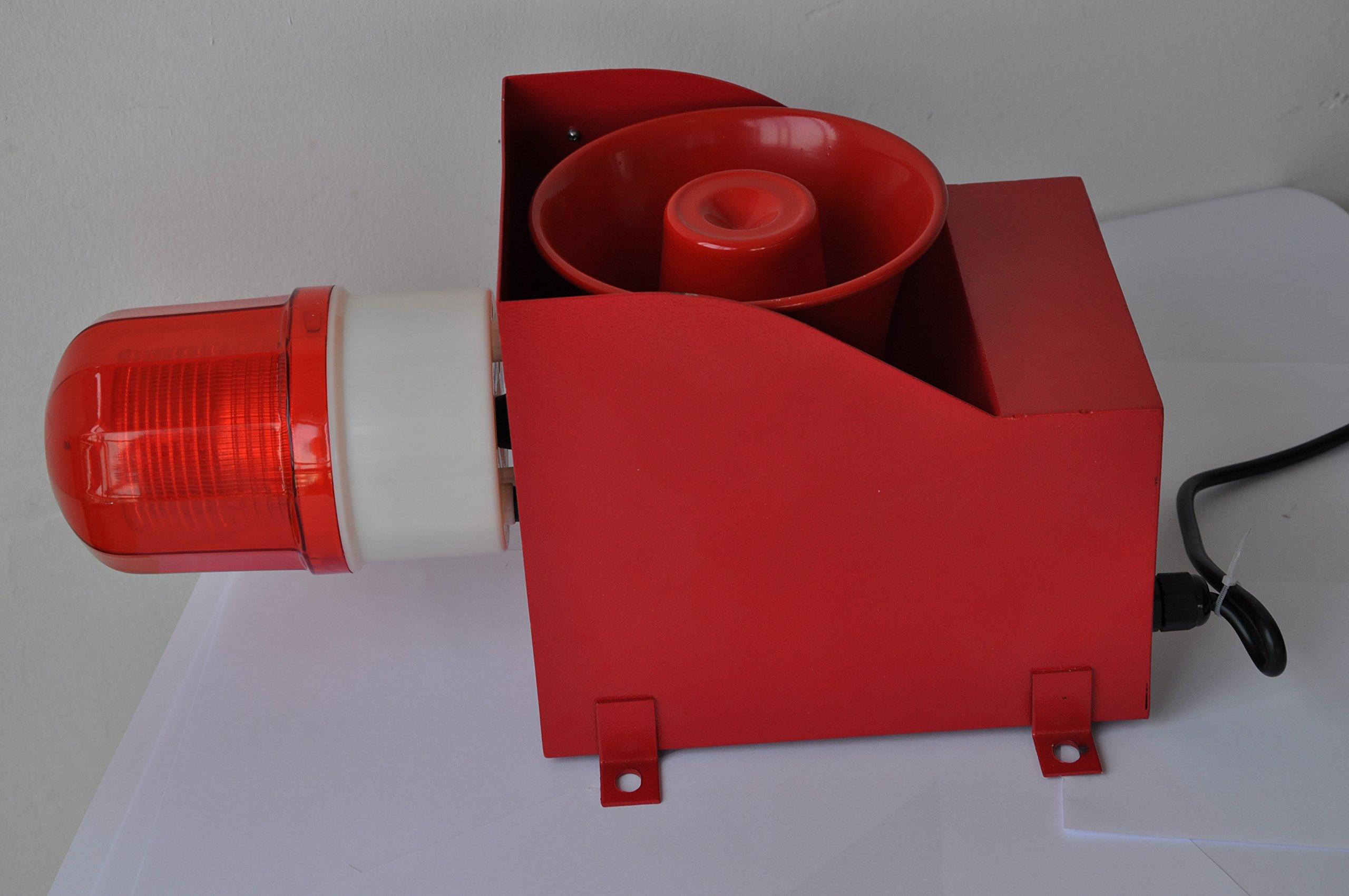 YS-05A Flashing Light Siren Alarm with Fire Alarm Sounds - Manufacturer AC220V-240V