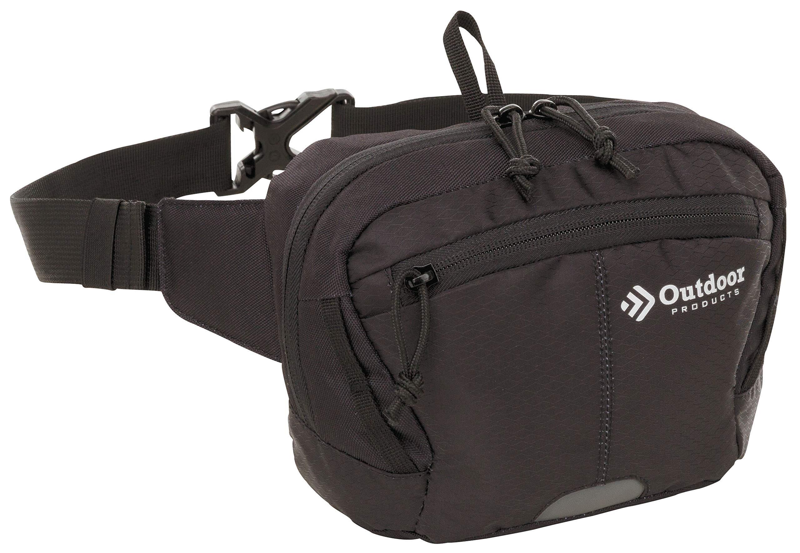 Outdoor Products Essential Waist Pack, 2.4-Liter Storage, Black