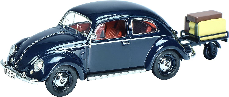 Rimorchio Blu Schuco 1:43 VW Maggiolino M