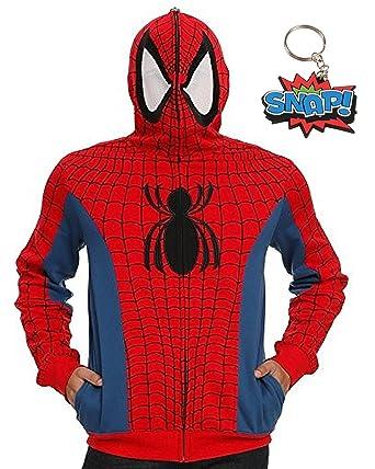 Amazon.com: Spider-Man Mens cosplay costume Full sudadera ...