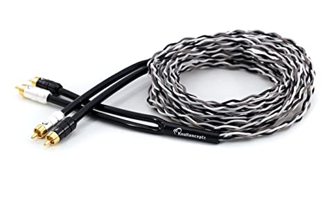 KnuKonceptz Krux Audiophile 1/2M Interlaced 3D Copper Twisted Pair 1.5ft RCA Cable