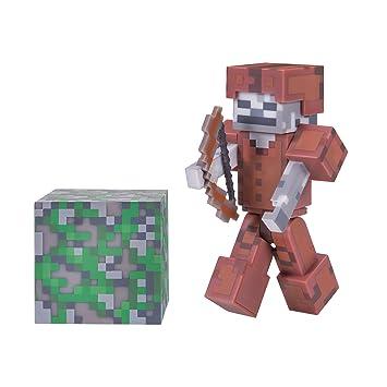 Armatura Di Catene Minecraft.Minecraft 16487 7 6 Cm Action Figure Scheletro In Pelle Armatura Confezione