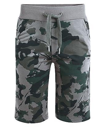 79b3dc24bf7 LotMart Boys Jersey Shorts Camouflage Print Pattern  Amazon.co.uk  Clothing