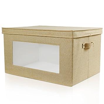 Charmant Lifewit Premium Linen Storage Box With Clear Vision Window, Durable Storage  Bins Organizer With Lids