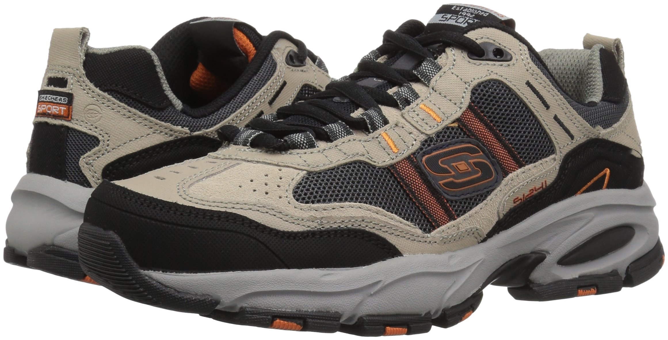 Skechers Sport Men's Vigor 2.0 Trait Memory Foam Sneaker, Taupe/Black, 7 M US by Skechers (Image #6)