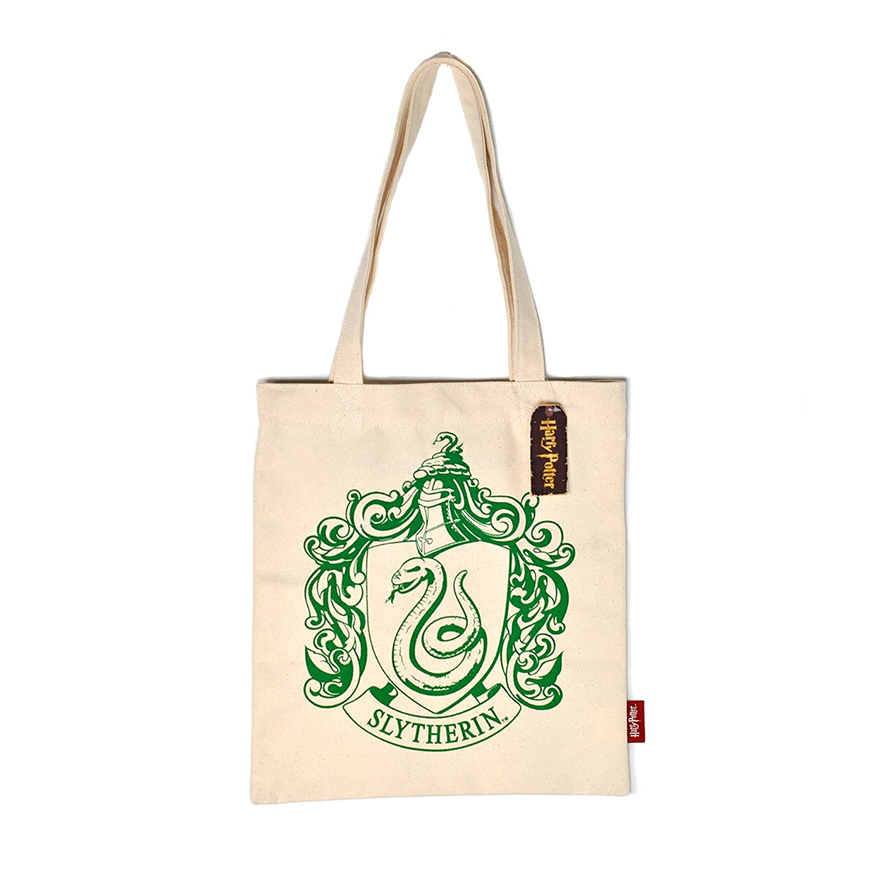 Harry Potter Shopping Bag Slytherin Crest Half Moon Borse Half Moon Bay