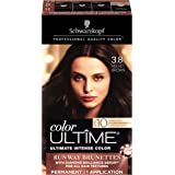 Schwarzkopf Color Ultime Hair Color Cream, 3.8 Velvet Brown (Packaging May Vary)