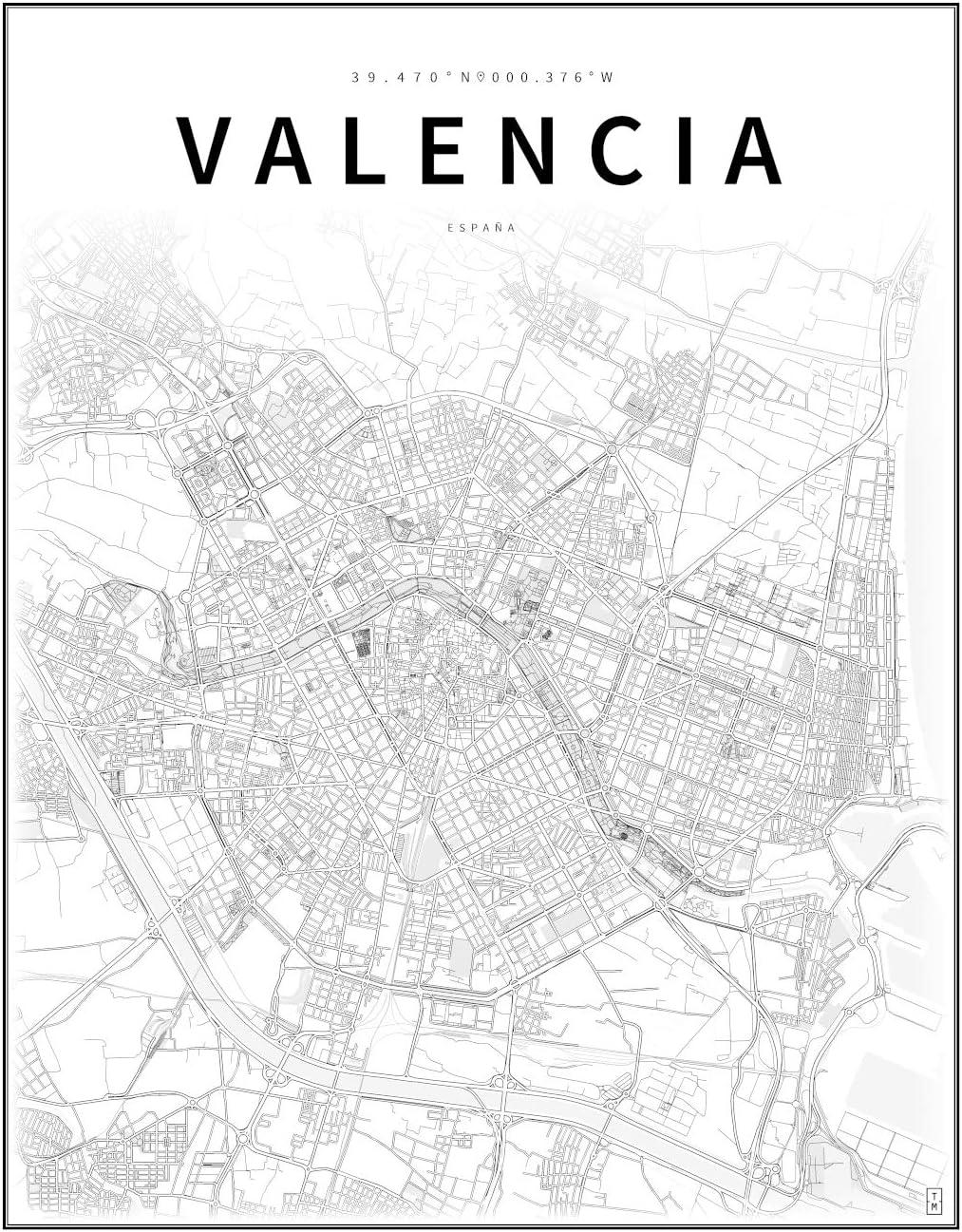 TUSMAPAS Mapa de Valencia: Amazon.es: Hogar