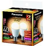 パナソニック LED電球 プレミア 口金直径17mm 電球40W形相当 電球色相当(4.4W) 小型電球・全方向タイプ 2個入 密閉形器具対応 LDA4LGE17Z40ESW2T