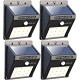 12 LED Solar Lights, Iextreme Waterproof Solar Powered Motion Sensor Light Wireless Led Security Lights Outdoor Wall Light for Driveway Patio Garden Path, 4 Pack