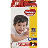 HUGGIES Snug & Dry Diapers, Size 4, 180 Count