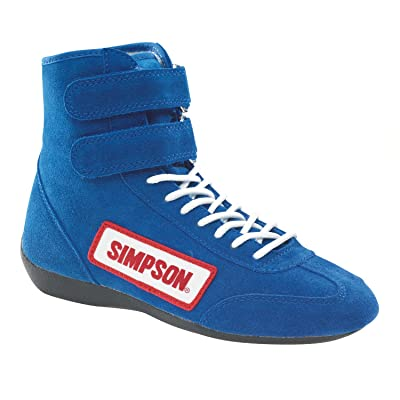 Simpson Racing 28800BL The Hightop Blue Size 8 SFI Approved Driving Shoes: Automotive