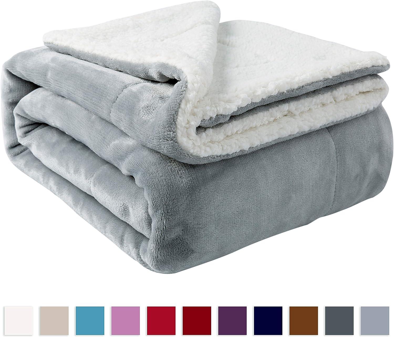 NANPIPER Sherpa Twin Thick Warm Blanket for Winter
