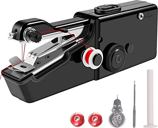 Máquina de coser de mano | negro, blanco y rosa. negro: Amazon.es ...