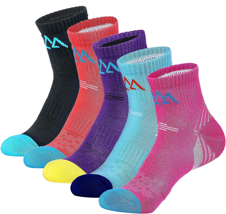 Womens Walking Hiking Socks FEIDEER Multi-pack Outdoor Recreation Socks Wicking Cushion Anti Blister Crew Quarter Athletic Sport Socks