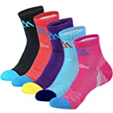 innotree 5 Pack Women's Cushioned Hiking Walking Running Socks, Moisture Wicking Blister Resist Multi Performance Padded…