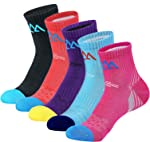 innotree 5 Pack Women's Cushioned Hiking Walking Running Socks, Moisture Wicking