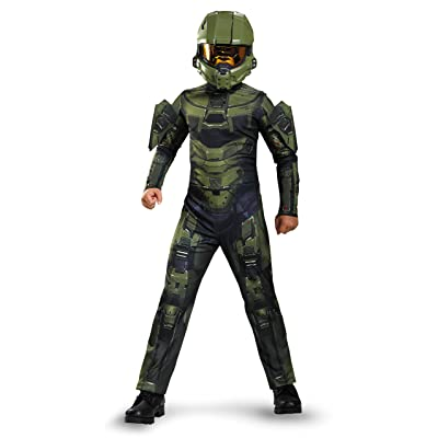 Master Chief Classic Costume, Medium (7-8), One Color: Toys & Games