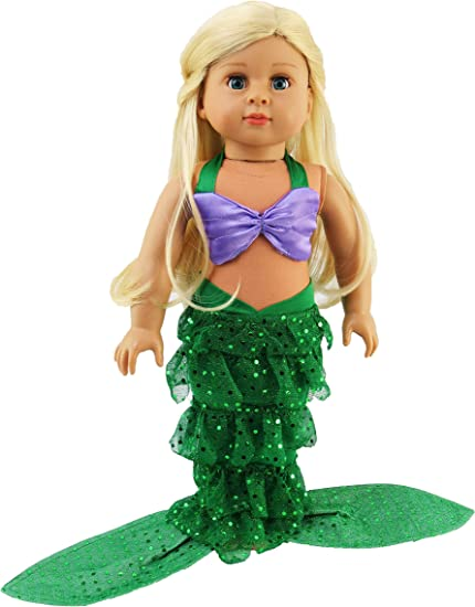 "Mermaid Tail Outfit made to fit American Girl mermaid 18/"" doll"