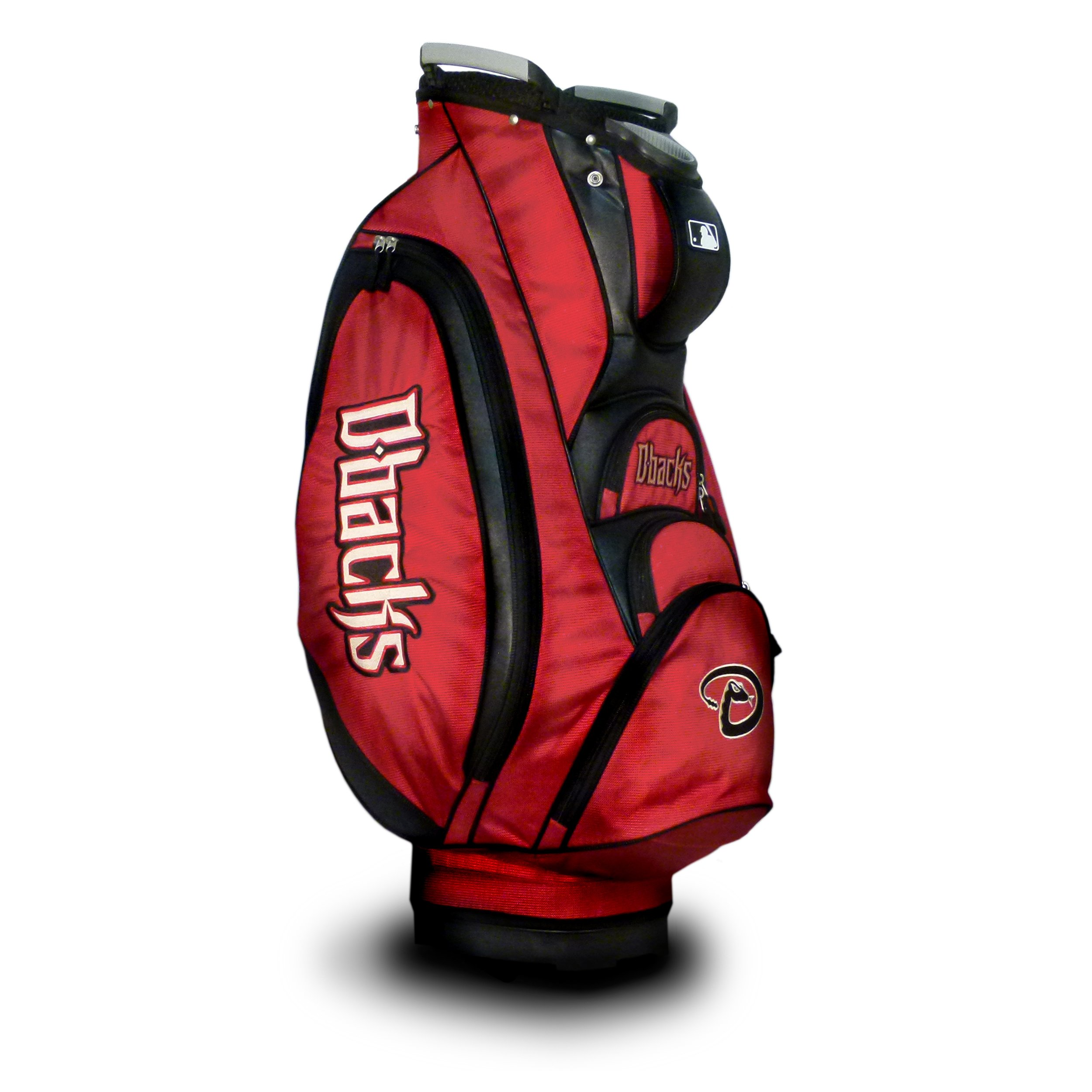 Team Golf MLB Arizona Diamondbacks Victory Golf Cart Bag, 10-way Top with Integrated Dual Handle & External Putter Well, Cooler Pocket, Padded Strap, Umbrella Holder & Removable Rain Hood
