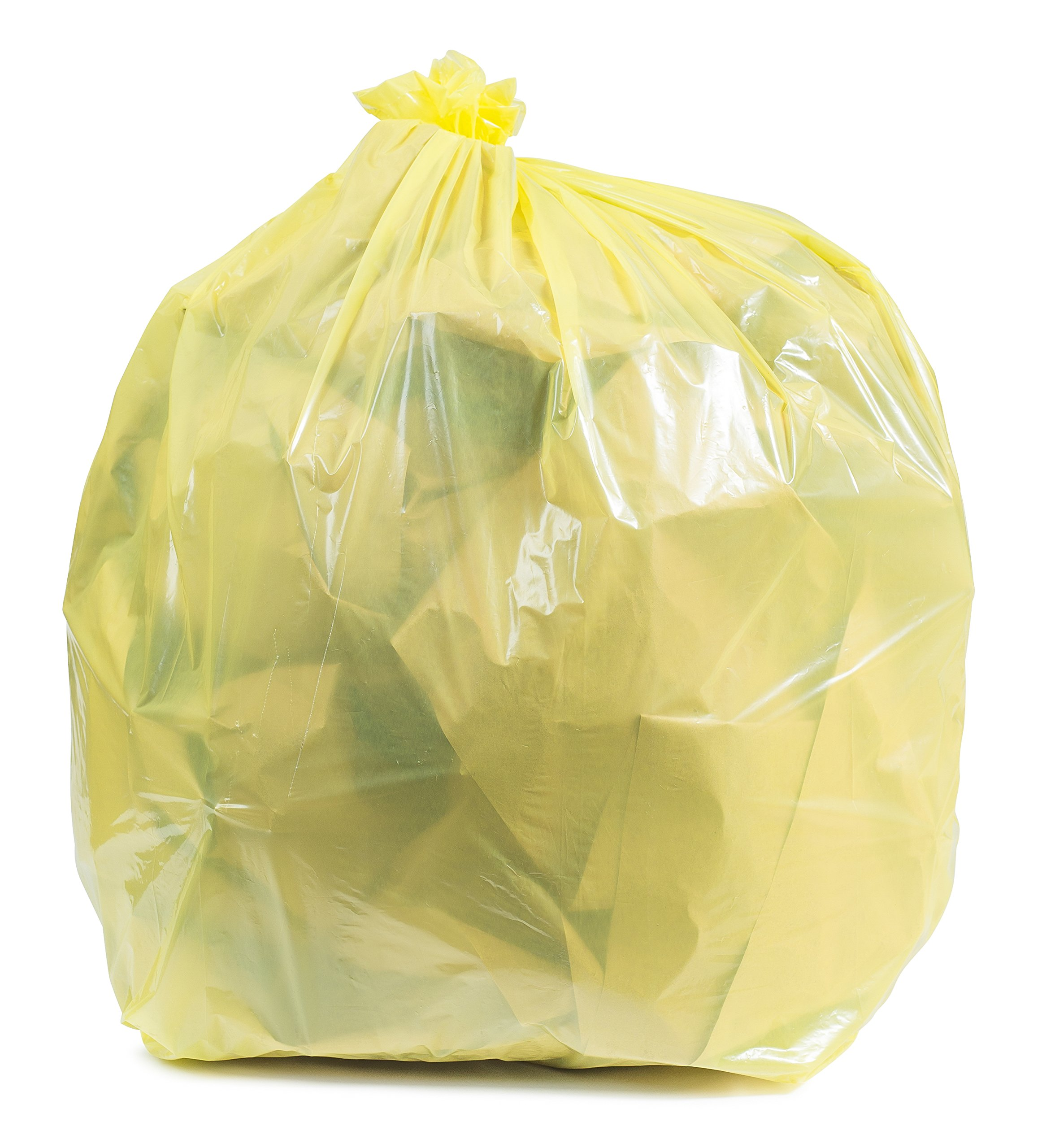 Plasticplace Yellow Trash Bags, 31-33 Gallon 100 / Case 1.5 Mil