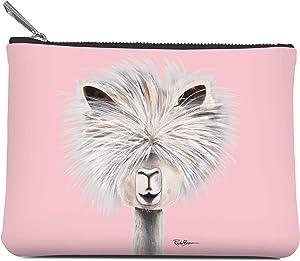 Medium Zippered Pouch by Studio Oh! - Tina The Llama - 7. 5
