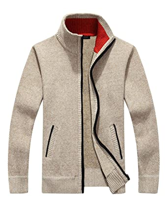 Simbama Mens Full Zip Up Sweaters Lightweight Casual Slim Fit Cardigan with  Pockets at Amazon Men\u0027s Clothing store