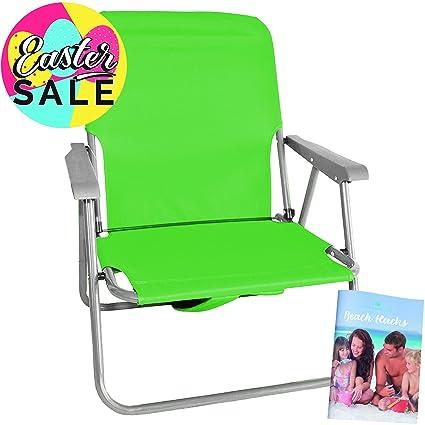 Silla de Playa Plegable Ivy Verde: tome asiento y relájese, ¡en cualquier lugar, en cualquier ...