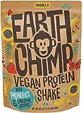 EarthChimp Vegan Protein Powder (26 Servings, 32 Oz) with Superfoods, Probiotics, Organic Fruits & Plant Based Protein Powder, Dairy Free, Gluten Free, Gum Free, Lactose Free, Non GMO, (Vanilla)