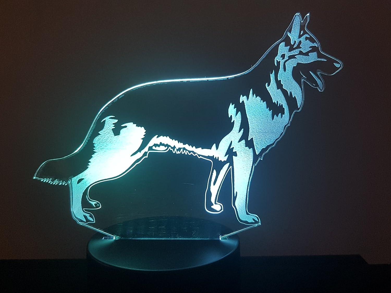 Deutscher Schä ferhund, 3D-Lampe LED