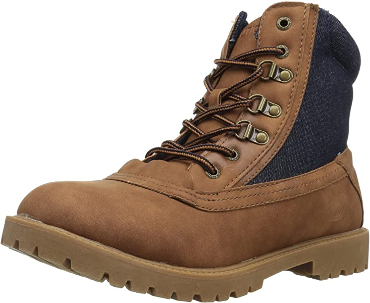 Nautica Men s Forecastle Ankle Boot tan Denim 7 ... 536495e88