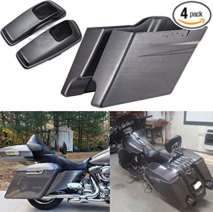 Advanblack Saddlebag 6x9 Speaker Lids Covers Denim Black For 14-19 Harley