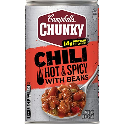Campbell's Chunky Chili, Hot & Spicy Beef & Bean Firehouse