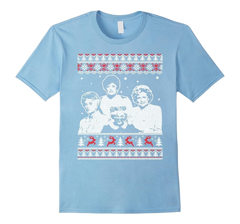golden girls queens ugly christmas sweater t shirt cl
