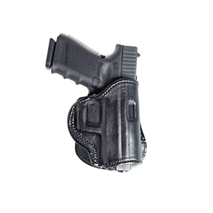 Paddle Leather Holster for Glock 43  Leather OWB Paddle with Adjustable  Cant