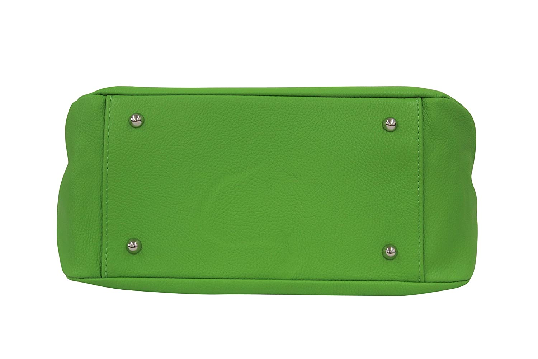 Ambra Moda Sac /à main en cuir v/éritable Sac Shopper bandouli/ère GL002