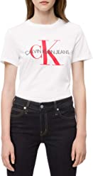 Calvin Klein Womens Short Sleeve T-Shirt Monogram Logo